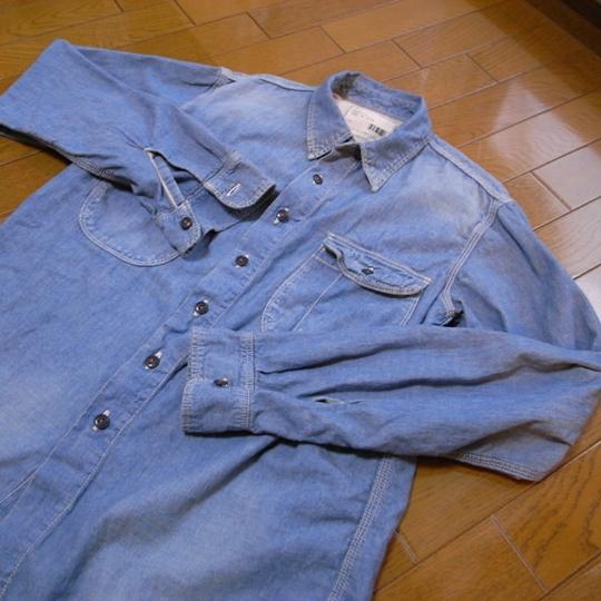KATO/AAA(カトー/トリプルエー)シャンブレーワークシャツ