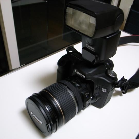 CANON(キヤノン)のデジタル一眼レフカメラEOS50D+レンズ+スピードライト