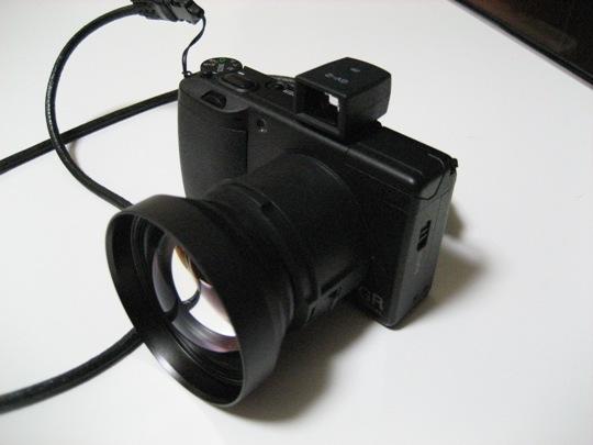 外部ファインダーGV-2×デジカメGR DigitalⅡ×テレコンGT-1