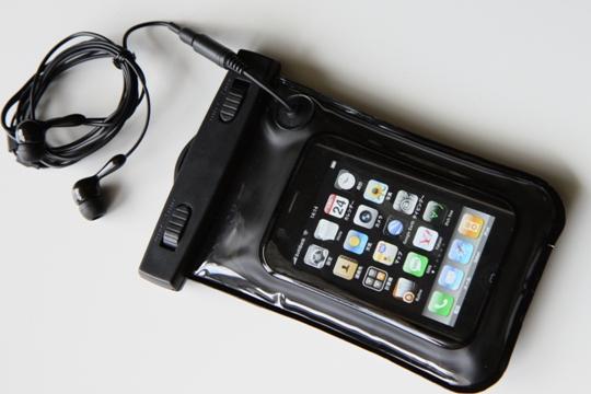 iPhone用シースルー防水ケース 200-PDA011ヘッドホン付き