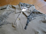 SLOWGUN(スロウガン)ジャカードツリー刺繍ポロシャツ