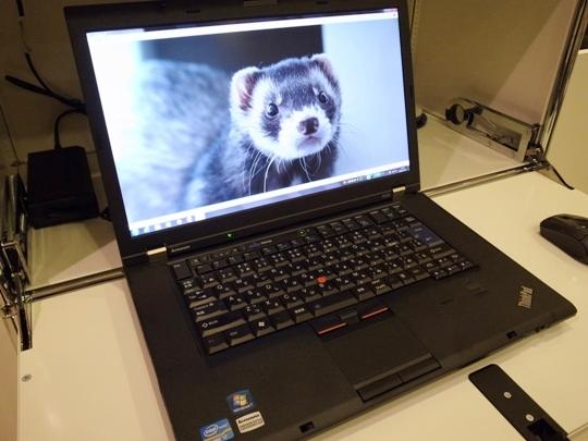 Lenovo(レノボ)のノートPC ThinkPad W520+モン太