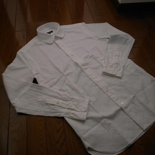 UA(ユナイテッドアローズ)オックスフォード・ラウンドカラーシャツ/シルエット