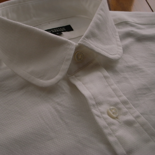 UA(ユナイテッドアローズ)オックスフォード・ラウンドカラーシャツ/丸襟