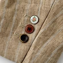 クロスビー・ハーレン&コブ/リネン・ジャケット袖口のボタン