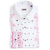 Vicri(ヴィクリ)の刺繍入りブロード・ボタンダウン・シャツ「スモール」