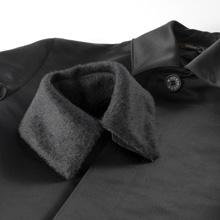 Mackintosh(マッキントッシュ)シルク・ロングコート/EARLSTONのファー付き襟