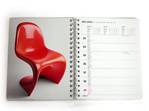 TASCHEN(タッシェン)の2007年ダイアリー/Panton Chair(パントンチェア)