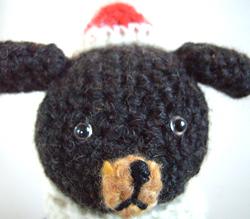 rauta(らうた)のあみぐるみクリスマス限定nzシリーズ「イヌ」UP