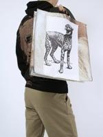 REBIRTH(リバース)の豹プリント・トート使用例