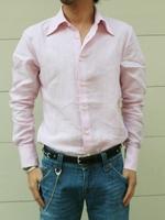 Amphitrite Melan(アンフィトリテ・メラン)リネンシャツ/ピンク