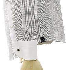 ZUNBANA(ズンバナ)ラウンド・クレリックシャツ袖