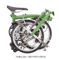 BROMPTON(ブロンプトン)フォールディングバイク折り畳み時