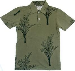 SLOWGUN(スロウガン)のジャカードツリー刺繍入りポロシャツ