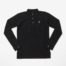 M's Braque(エムズブラック)長袖ポロシャツ/黒