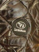 LAVENHAM(ラベンハム)RAYDONシャイニーナイロン/ロゴ・ブラック