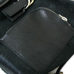 FLORIAN DENICOURT(フロリアン・ドゥニクール)ポニーレザーバッグ/ポケット