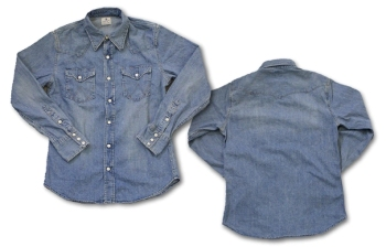 Wrangler(ラングラー)×Backdrop(バックドロップ)デニムウェスタンシャツ
