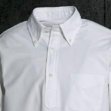SOUTIENCOL(スティアンコル)オックスフォードプルオーバーシャツ/襟元