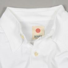 SOMET(ソメ)スムース長袖シャツ襟