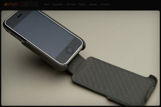 Vaja Leather Products/iPhone3G用レザーケース/オープン