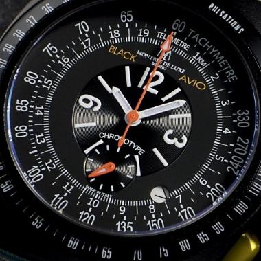 MONTRES DE LUXE(モントレス・デ・ラックス)BLACK AVIO(ブラック・アヴィオ)NATO/タキメーター