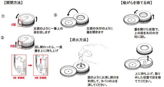 SAROME(サロメ)ハンディアッシュトレイEXPA66/説明