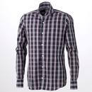 フィナモレ/コットンチェックシャツ