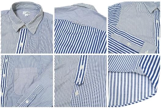UNUS ENTIL(ユーナス・エンティル)クレイジーパターンのストライプシャツ