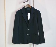 norikoike(ノリコイケ)コットンリネン裏毛ジャケット/ブラック