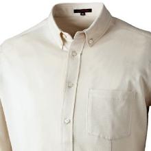 GEKKO(ゲッコー)ギザ45鹿の子ボタンダウンシャツ/白