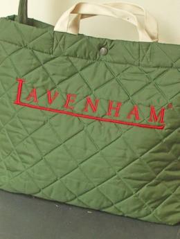 LAVENHAM(ラベンハム)ロゴ入り2WAYバッグ/グリーン