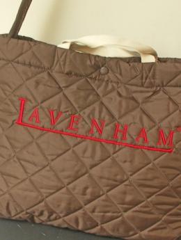 LAVENHAM(ラベンハム)ロゴ入り2WAYバッグ/チョコ