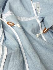 Decentages×his tube(ディセンタージュ×ヒズチューブ)リネン・ジャケット/ウェストドローコード