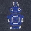 FRANCO BASSI(フランコ・バッシ)ロボットモチーフタイ